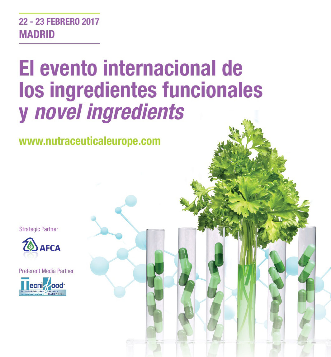 NUTRACEUTICALS Europe Summit & Expo, will meet in Madrid (Spain) the sector of the functional and novel ingredients, next 22nd and 23rd February at Feria de Madrid venue.
